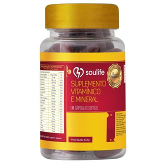 Suplemento Vitamínico e Mineral - 150 Cáps - Soulife