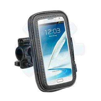 Suporte e Capa Protetora de Celular para Moto e Bicicleta - Resistente a Água - até 14 cm - Preto