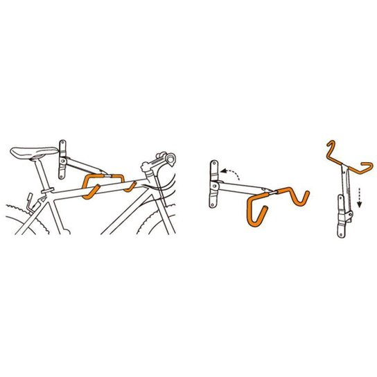 Suporte Parede Bike Horizontal Icetoolz - Laranja