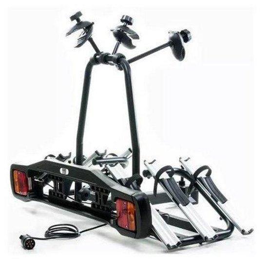 Suporte Transbike Rack 3 Bicicletas Com Sinalizador Engate - Preto
