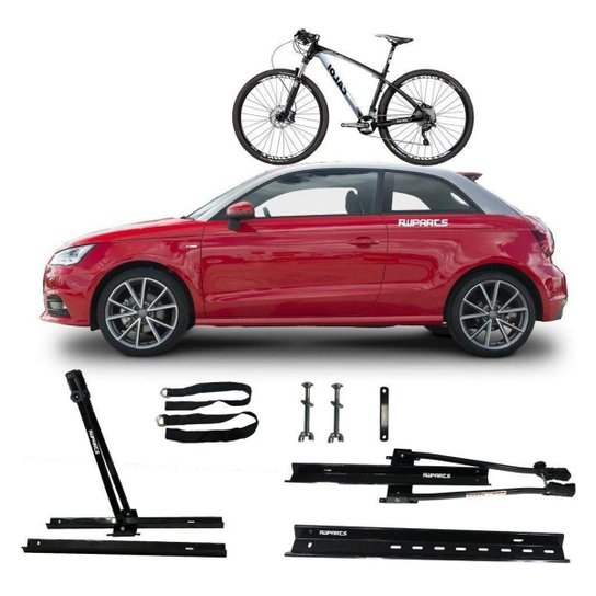 Suporte Transbike Rack Teto Universal Veicular Bike Para 1 Bike - Preto