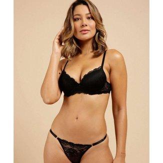 Sutiã De Renda Feminino Com Base Marisa - 10045860744