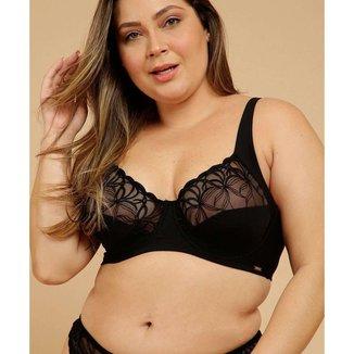 Sutiã Plus Size Feminino Com Base Sem Bojo Dilady - 10047201798