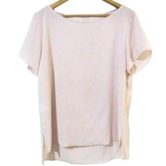 T-shirt Feminina Richini Clássica Fenda Lateral 3.2463