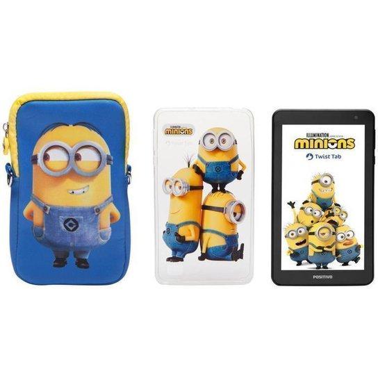 Tablet Infantil Positivo T770KM Minions com Capa - Incolor