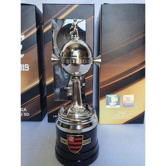 Taça Troféu Oficial Licenciado Flamengo Conmebol Libertadores da América Milled - 15cm
