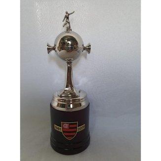 Taça Troféu Oficial Licenciado Flamengo Conmebol Libertadores da América Milled - 23cm