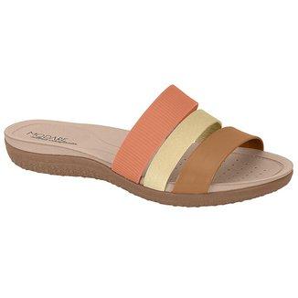 Tamanco Casual Modare Feminino 712520022531 Coral/Camel/Dourado 40