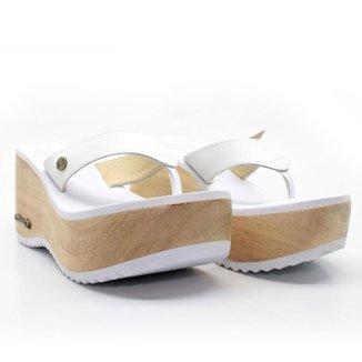 Tamanco Plataforma Feminino Barth Shoes Búzios Couro Solado Madeira