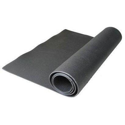 Tapete Colchonete para Yoga Pilates e diversos exercicios 5118 ( 195cm x 95cm x 0,6cm ) - Unissex - Preto