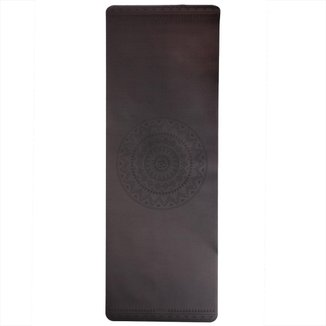 Tapete de Yoga preto estampado Phoenix, PU Borracha 100% Natural, alta aderência 185 x 60cm 4.0mm