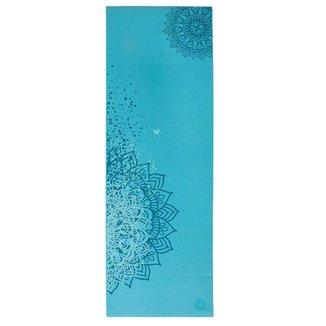 Tapete de yoga pvc ecológico estampa Mandala Design, yoga mat para pilates e ginástica 183x60cm
