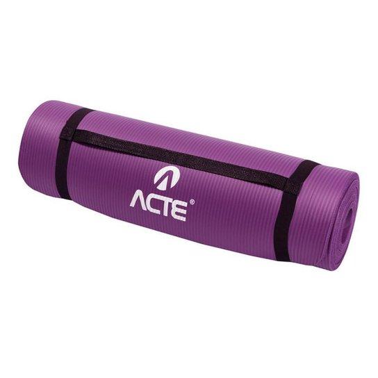 Tapete Para Exercícios Confort Acte Sports - Roxo - Roxo