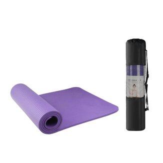 Tapete Yoga em NBR 183x61x0.8 Pilates Exercício Bravus Sport