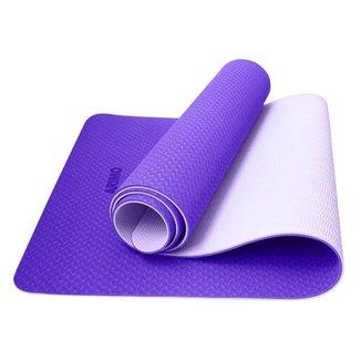 Tapete Yoga Mat Antiderrapante TPE Ecológico Biodegradável Todos Os Tipos de Yoga 181x61cmx6mm Arimo