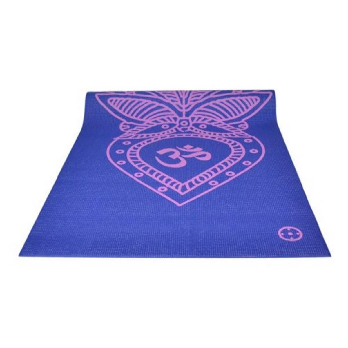 f1e714816 Tapete Yoga Mat em PVC ECO Lótus Hopumanu - Azul   Netshoes