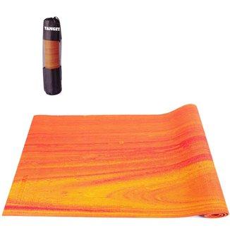 Tapete Yoga Mat Pilates em PVC 6mm Rainbow Com Bolsa Yangfit