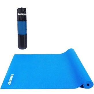 Tapete Yoga Mat Pilates Exercícios PVC 4mm Com Bolsa Yangfit