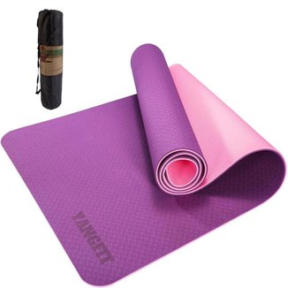 Tapete Yoga Mat Pilates Exercícios TPE 6mm Com Bolsa Yangfit
