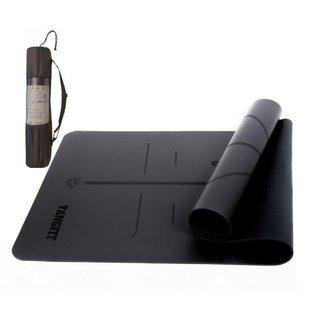 Tapete Yoga Mat PU e Borracha Natural 5mm Com Bolsa Yangfit