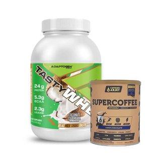 Tasty Whey Coco 2.0 Lbs e Supercoffee Choc 220g