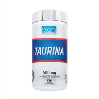 Taurina 500mg (120 Comprimidos) - Stem Pharmaceutical