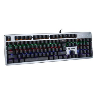 Teclado Gamer Mecânico Evolut EG208 Blacksmith Prata (Blue Switch)