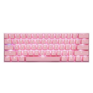 Teclado Gamer Motospeed CK62 Bluetooth Rosa Switch Azul RGB