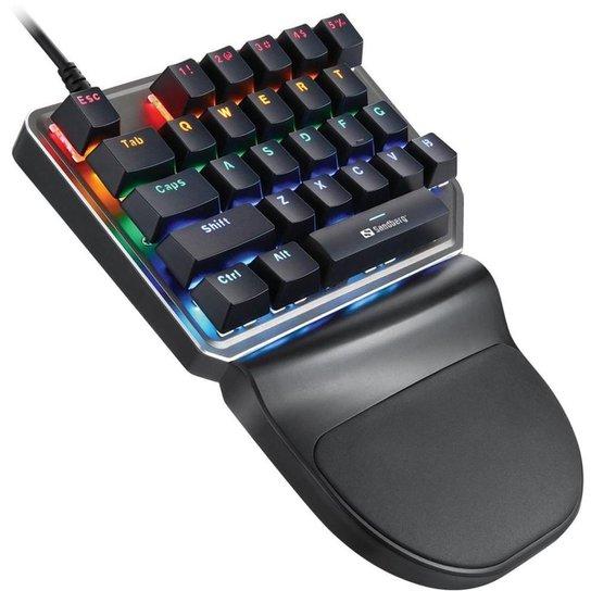 Teclado Gamer Motospeed K27 Preto Switch Vermelho Rainbow - Preto