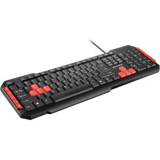 Teclado Gamer Multimídia Red Keys