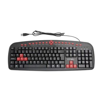 Teclado Gamer Multimídia USB Teclas Red Abnt2 Bright 482