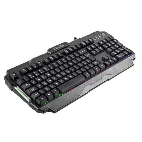 Teclado Gamer Sate AK-837 RGB USB - Preto