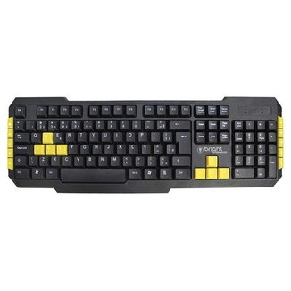 Teclado Gamer USB Multimídia Teclas Verde Abnt2 Bright 183