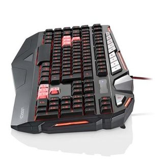 Teclado Gamer Warrior Morani Com Teclas Macro LED