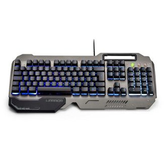 Teclado Gamer Warrior Ragnar Superfície Metal LED