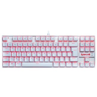 Teclado Mecânico Gamer Redragon Kumara Single Color Branco Switch Azul