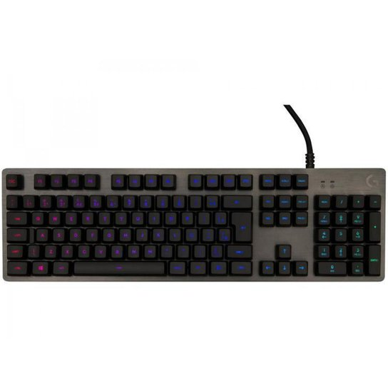 Teclado Mecânico Gamer RGB Logitech G512 Carbon USB - ABNT2 - Preto
