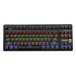 Teclado Mecânico Gamer Sate K5 Switch Blue RGB USB