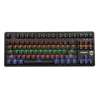 Teclado Mecânico Gamer Sate K5 Switch Blue RGB USB