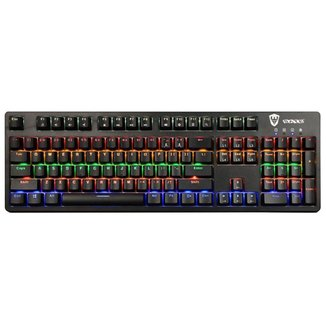 Teclado Mecânico Gamer Sate K6 Switch Blue RGB USB