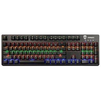Teclado Mecânico Gamer Sate K6 Switch Blue RGB USB