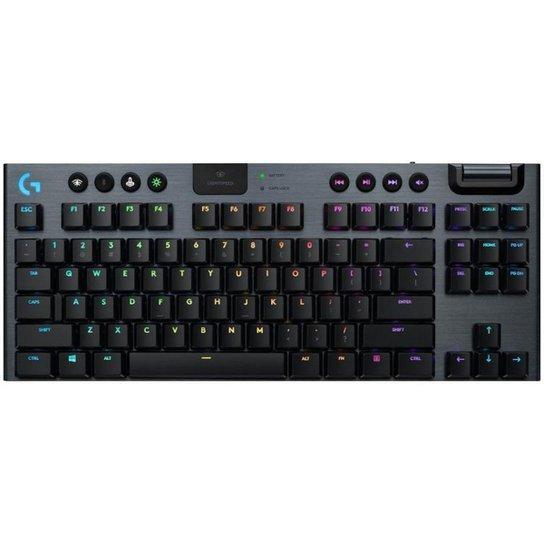 Teclado Mecânico Gamer sem Fio Logitech RGB - Preto