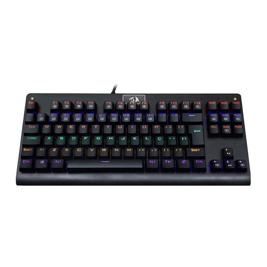 Teclado Mecanico Redragon Dark Avenger  Rainbow Switch Brown K568R PT-BROWN - Preto