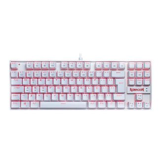 Teclado Mecanico Redragon Kumara Lunar White Led  Switch  K552W-2 PT-RED