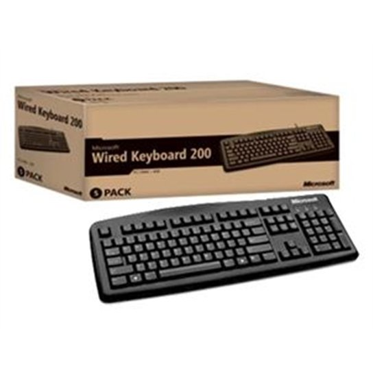 Teclado Microsoft Wired Keyboard 200 For Business - Incolor
