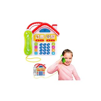 Telefone Infantil Divertido Casa Com Som Luz E Música - Dm Toys