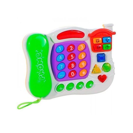 Telefone Musical Emite Som e Emite Luz Art Brink - Colorido