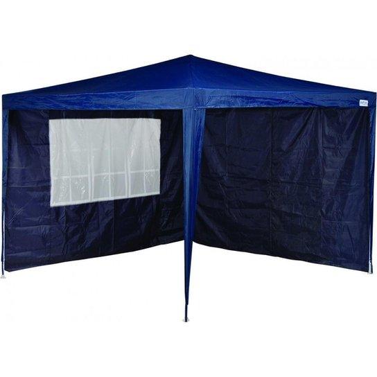 Tenda Gazebo Articulado  X-Flex 3 X 3 Com 2 Paredes Mor - Azul