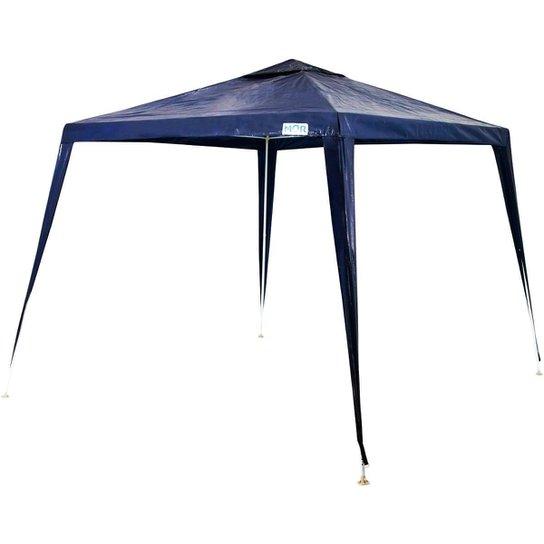 Tenda Gazebo MOR Ráfia com Estrutura em Aço Carbono - Azul