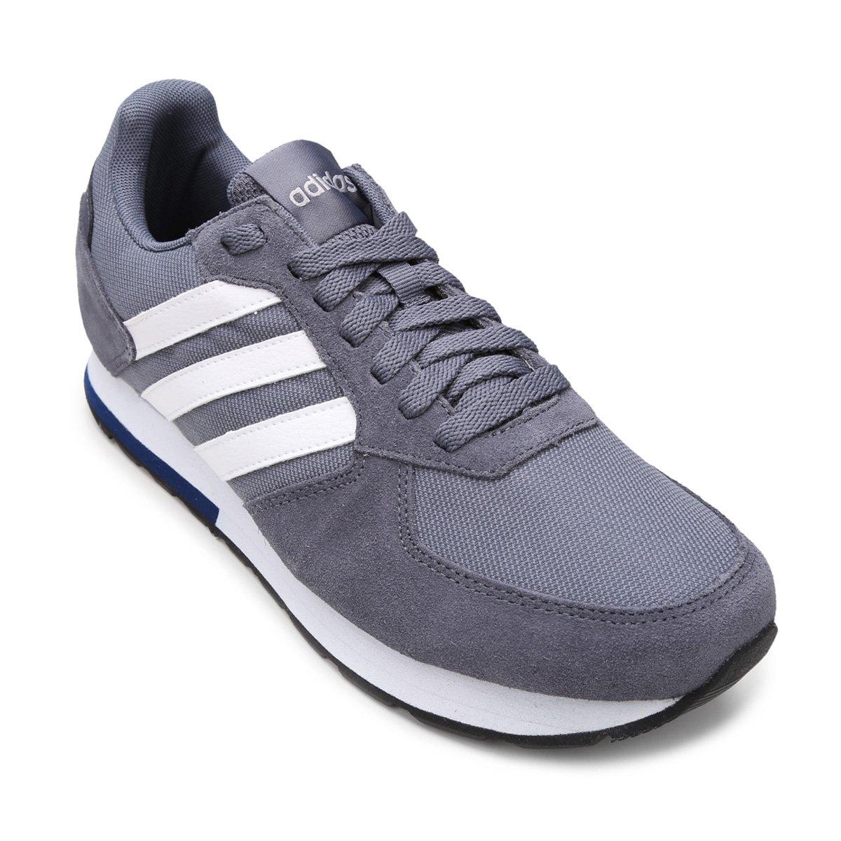 6669629c6c5 Tênis Adidas 8K Masculino - Branco e Preto - Compre Agora